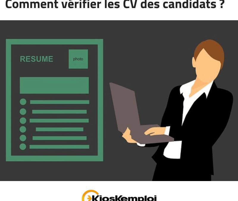 Comment vérifier les CV des candidats ? Infographie