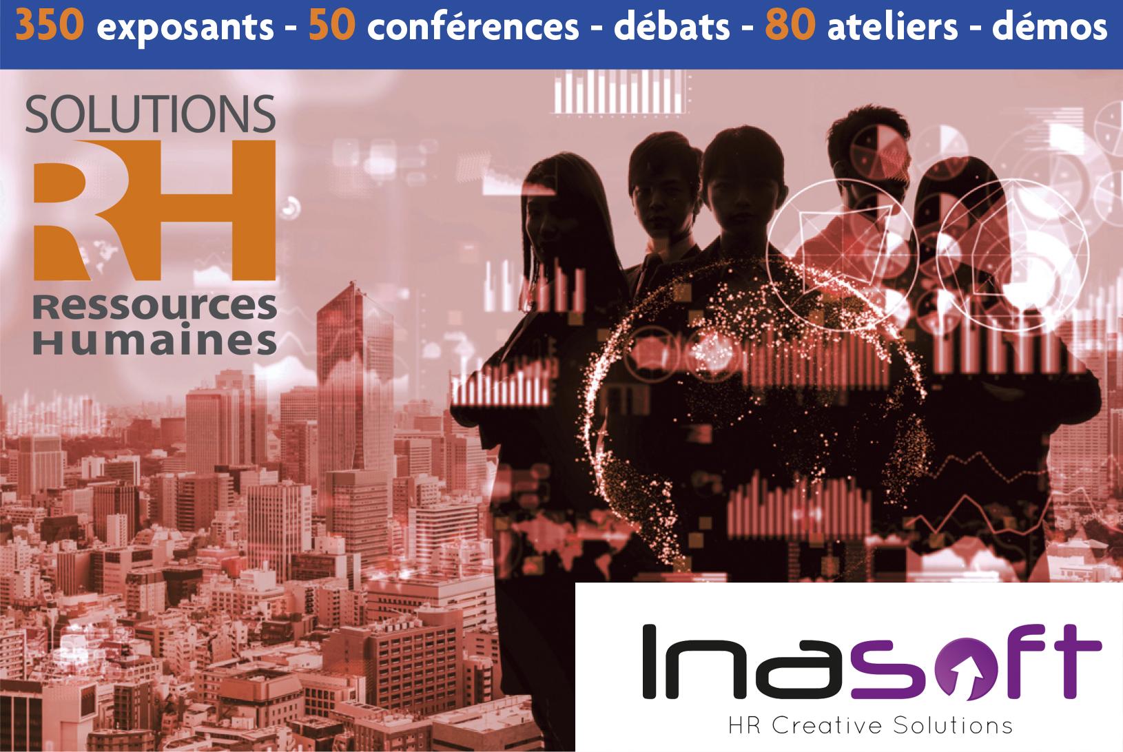 """Inasoft exposera au Salon """"Solution RH 2020"""" à Paris les 17, 18 et 19 mars"""