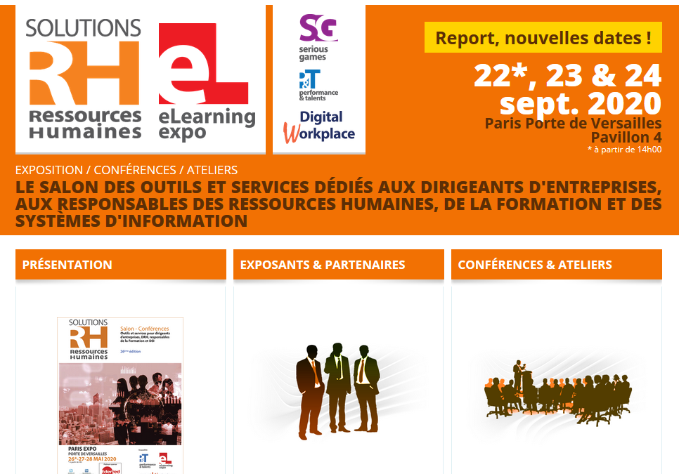 """Kioskemploi exposera au Salon """"Solution RH 2020"""" à Paris les 22, 23 et 24 septembre prochain"""